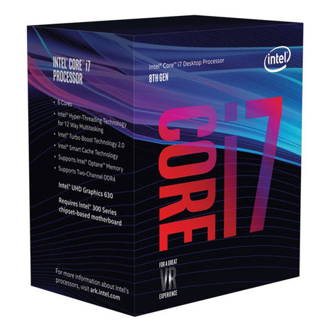 Intel Core i7-8700K 3.7Ghz No Fan Unlocked s1151 Coffee Lake 8th Generation Boxed 3 Years Warranty - Afterpay with ZipPay or Oxipay - Compurig Tech