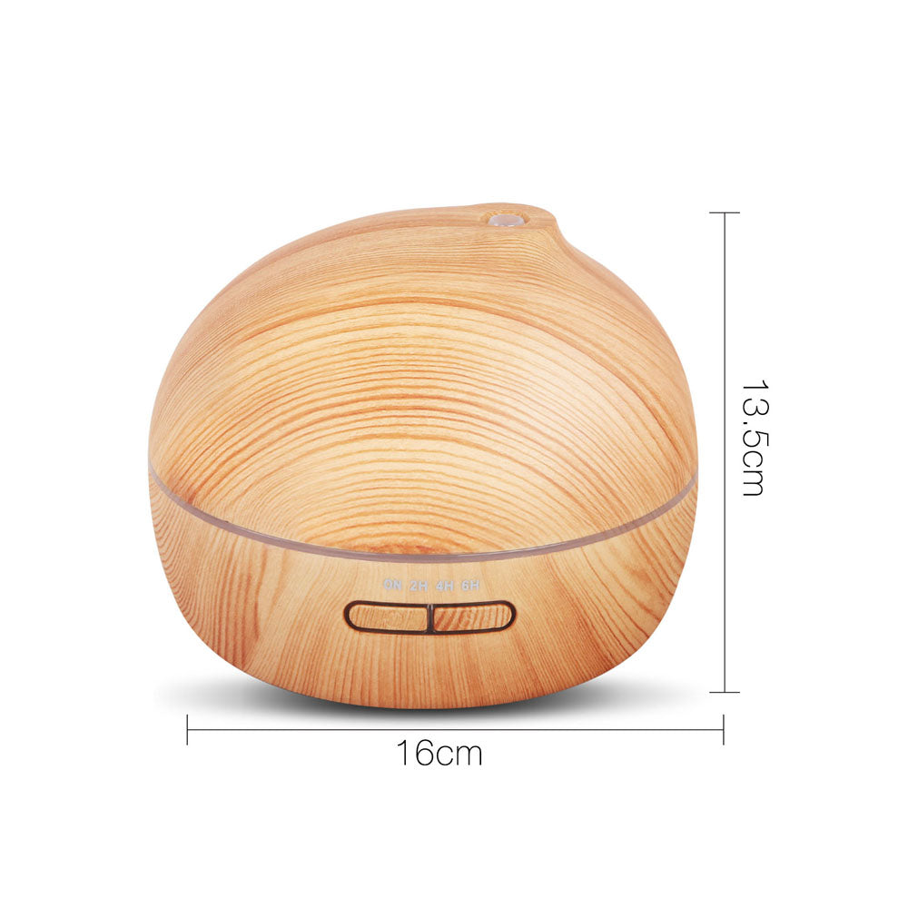 300ml 4 in 1 Ultrasonic Aroma Diffuser - Light Wood