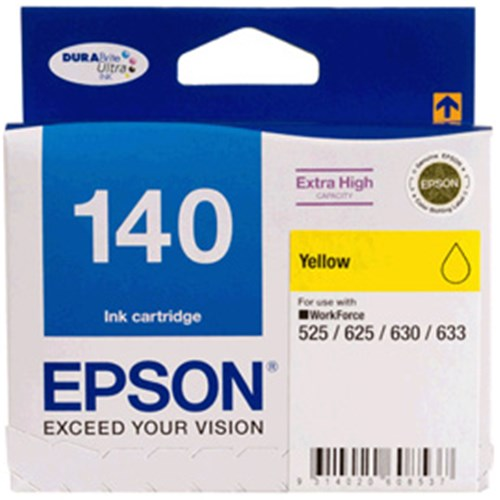 140 EXTRA HIGH CAPACITY YELLOW INK CART WORKFORCE 525,545,60, 625, 630, 633, 645, 7010,7510