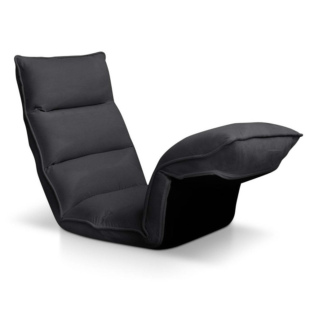 4 Adjustable Section Floor Lounge Chair- Charcoal