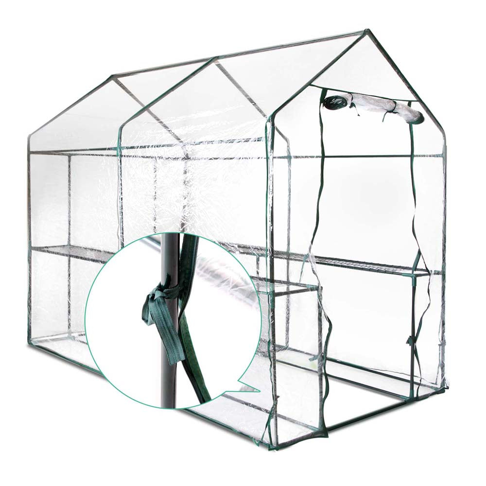 1.9x1.2x1.9M Walk In Transparent Green House