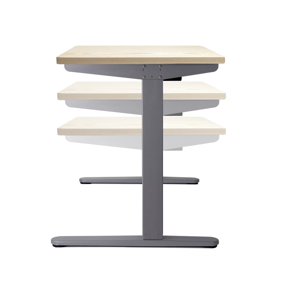 100cm Motorised Electrical Adjustable Frame Standing Desk - White Grey