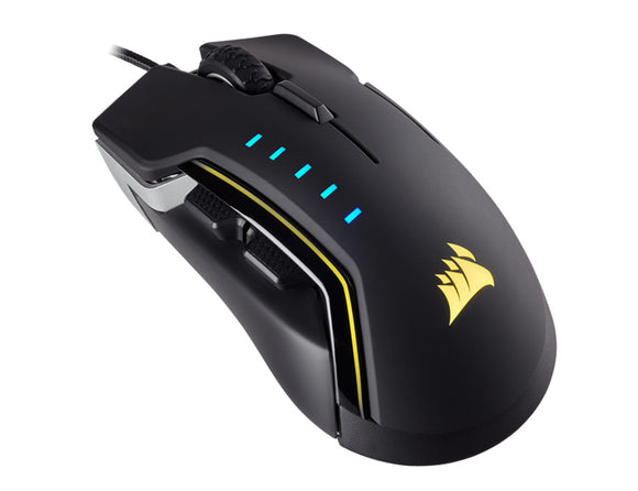 Corsair Gaming GLAIVE RGB Gaming Mouse, Backlit RGB LED, 16000 DPI, Optical, Aluminium - COMPURIG TECH