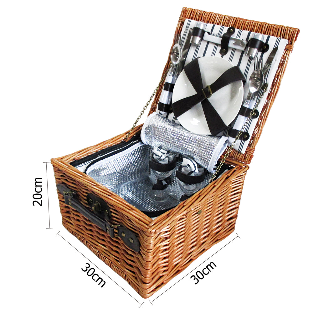 2 Person Picnic Basket - Black