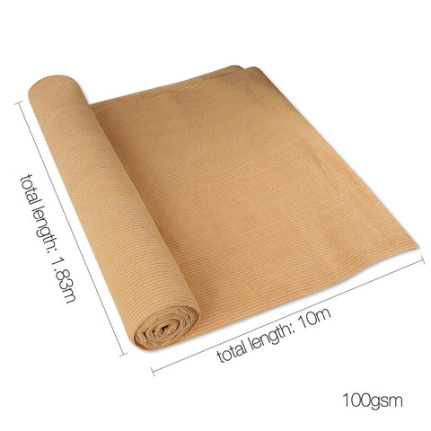 1.83 x 10m Shade Sail Cloth - Beige