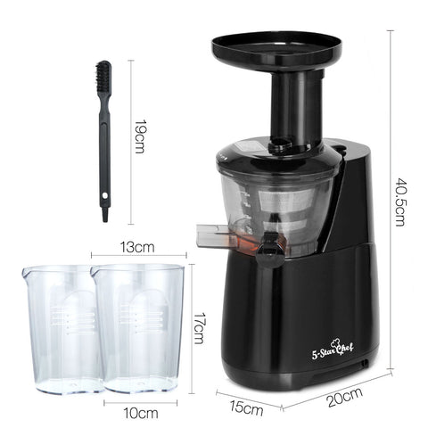 High Yield Cold Press Slow Juicer - Black