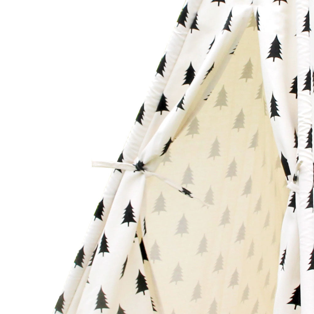 Kids Teepee Tent Children Play Tent with Mat Home Indoor Outdoor Foldable