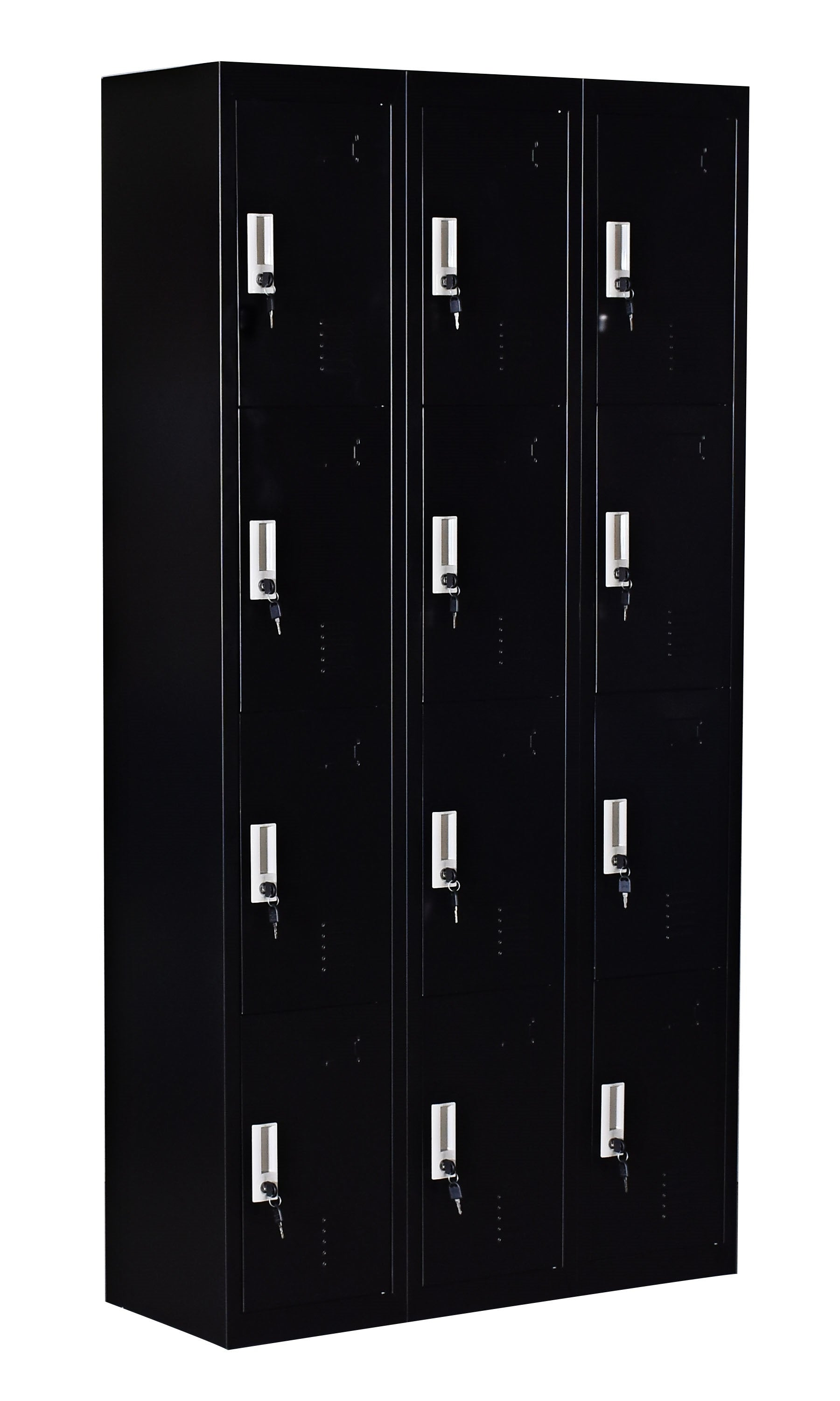 12 Door Locker - Office/Gym - Black
