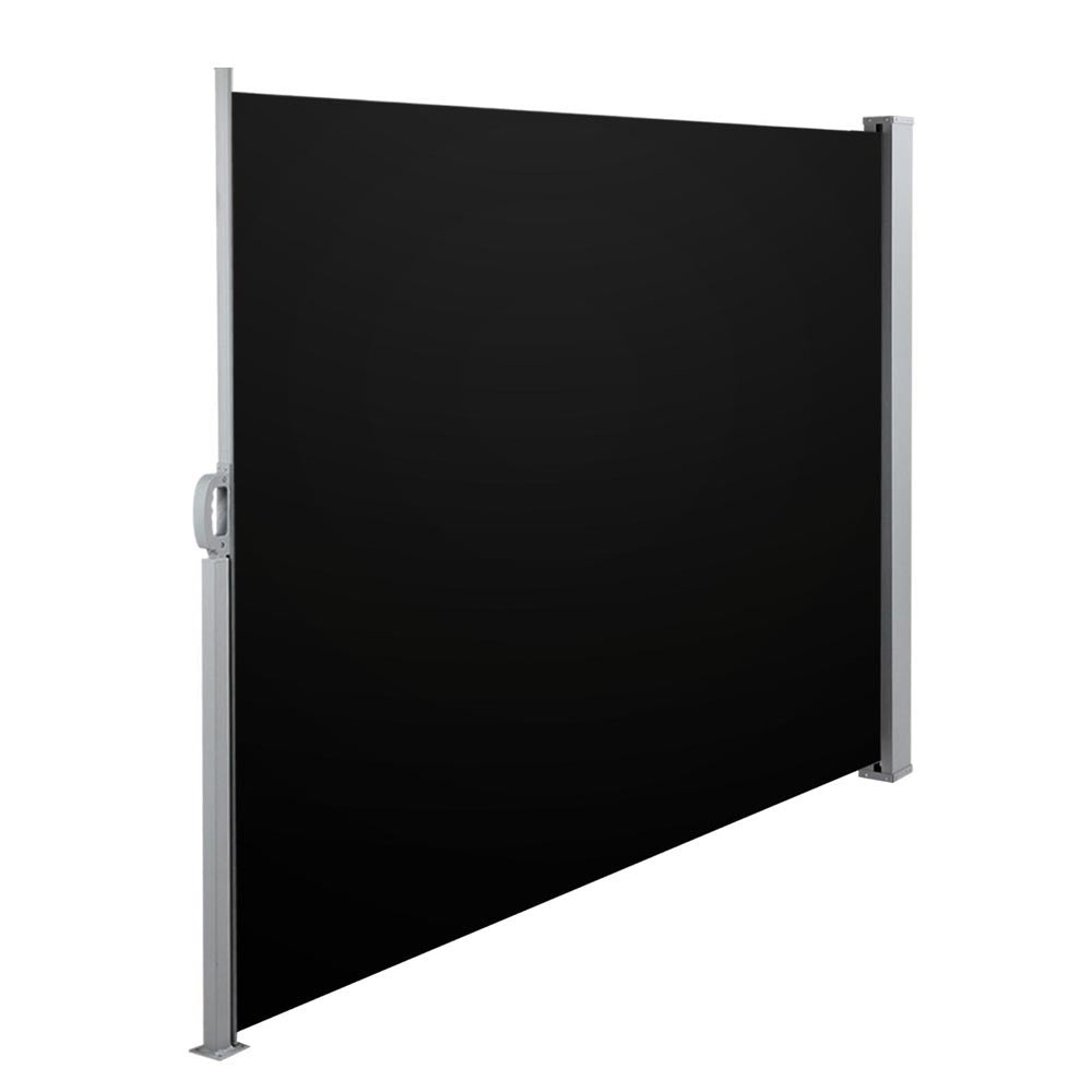 Retractable Side Awning 1.8 x 3M - Black
