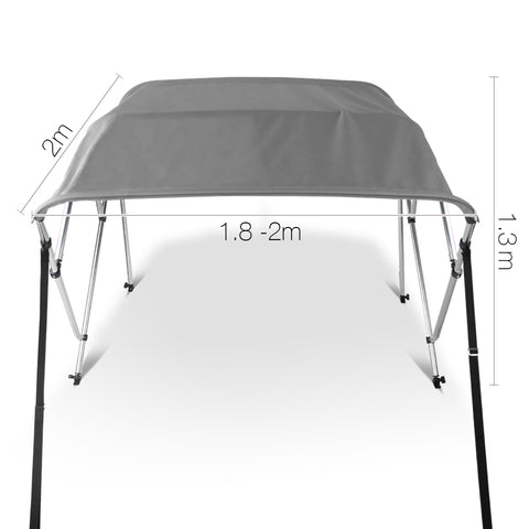 1.8-2M Boat Top Canopy - Grey