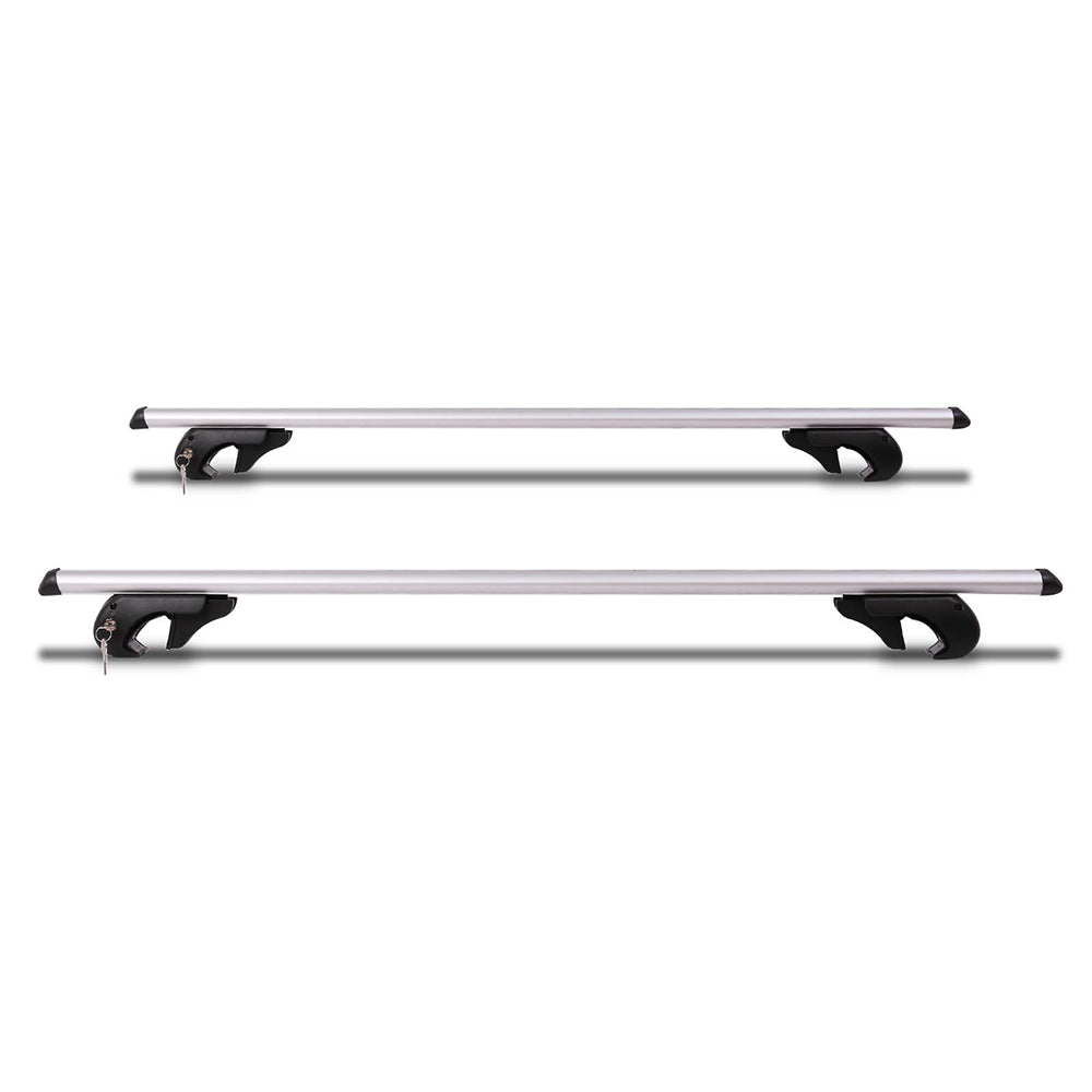 1350mm Universal Aluminium Lockable Roof Rack Cross Bar - Silver