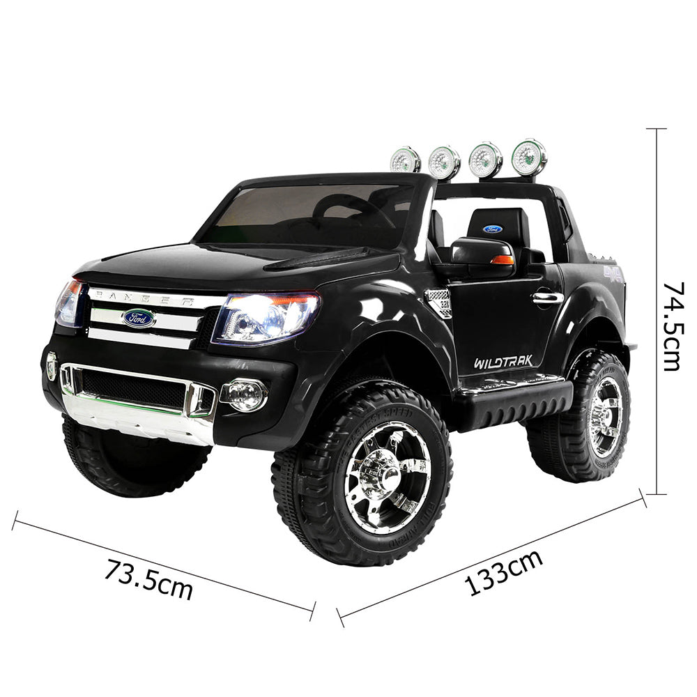 12V Kid's Ride on Car Licensed Ford Ranger - Black