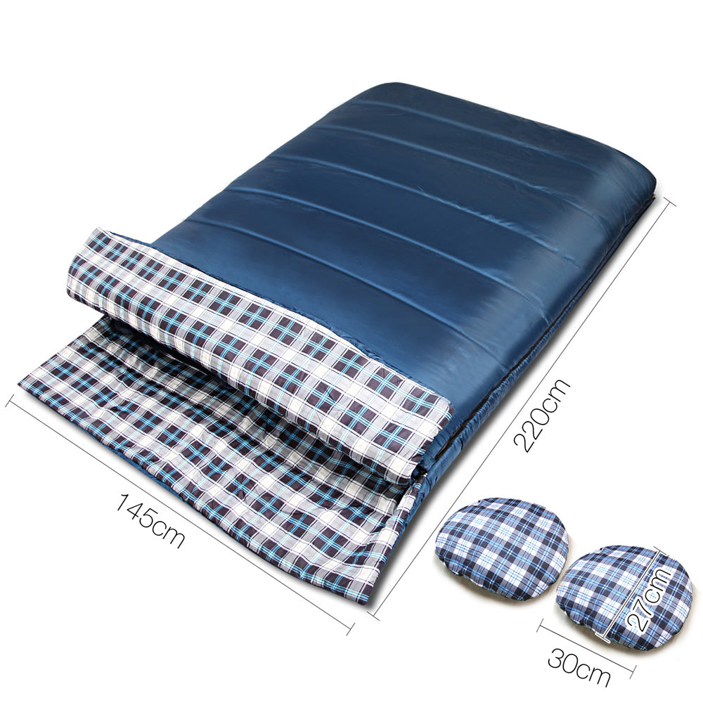 2 in 1 Thermal Sleeping Bag - Navy