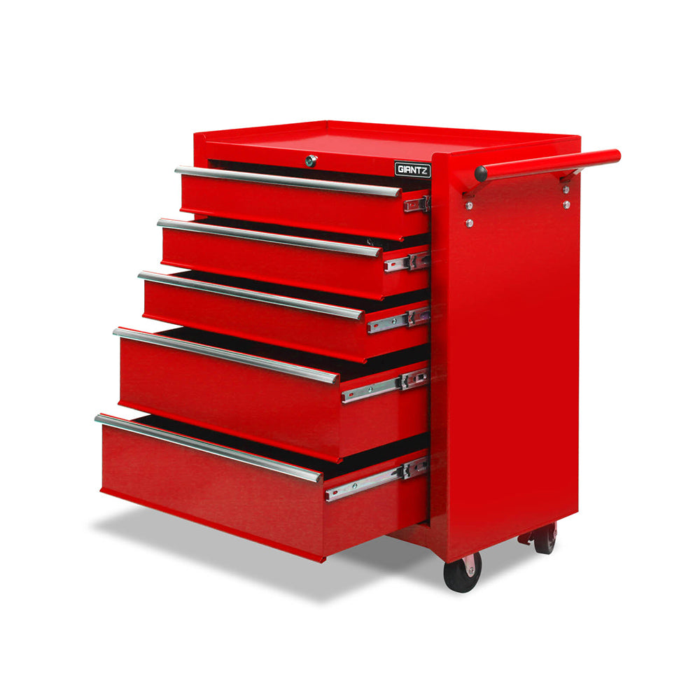 5 Drawers Tool Box Storage Trolley - Red