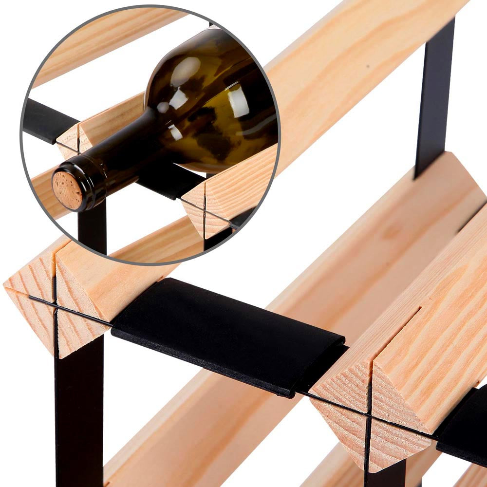 12 Bottle Timber Wine Rack