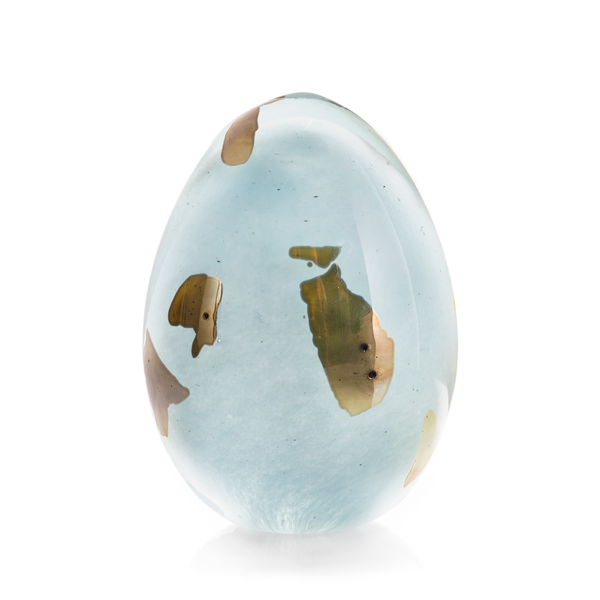 """Light Blue Gold Egg"""