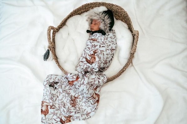 Creatures of the Woods Swaddle on bab