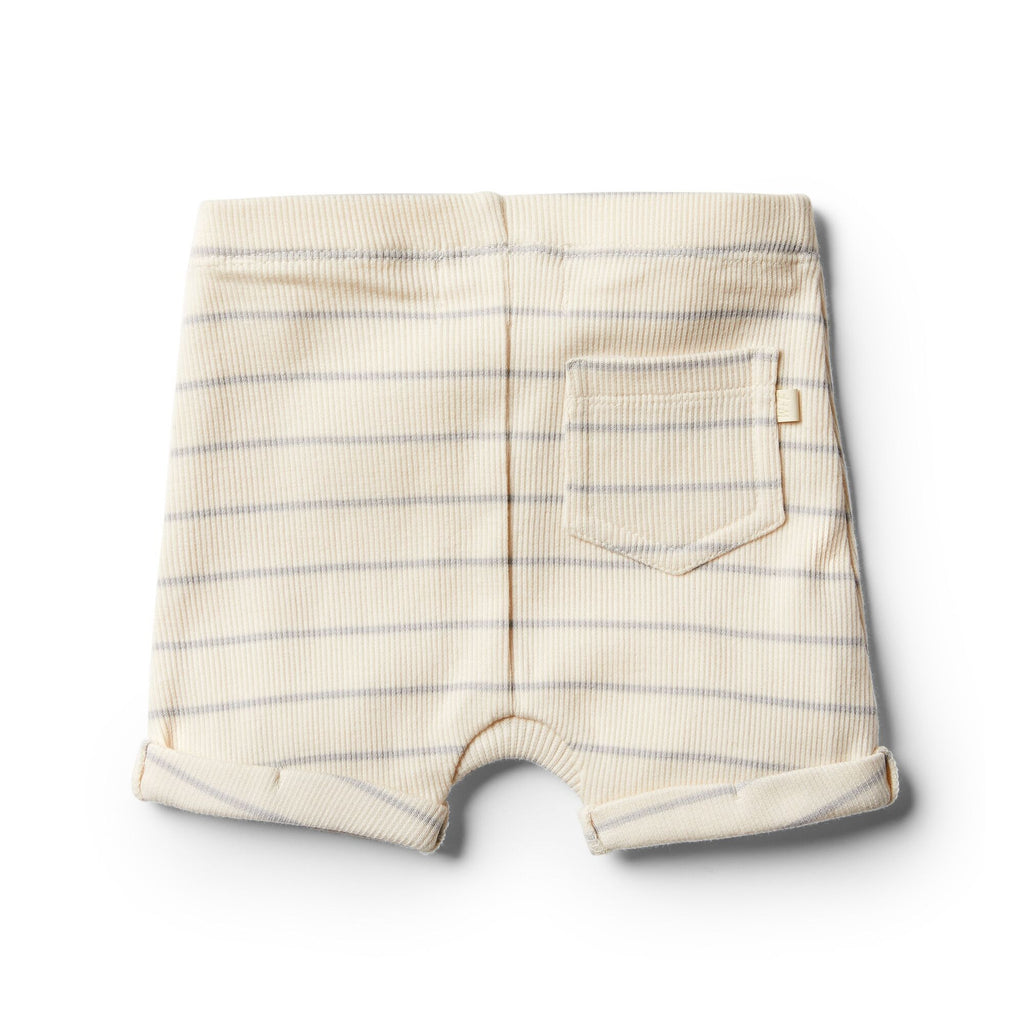 Wilson and Frenchy Organic Glacier Grey Stripe Shorts