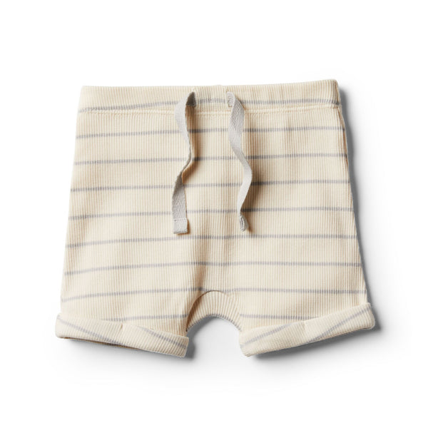 Organic Glacier Grey Stripe Short