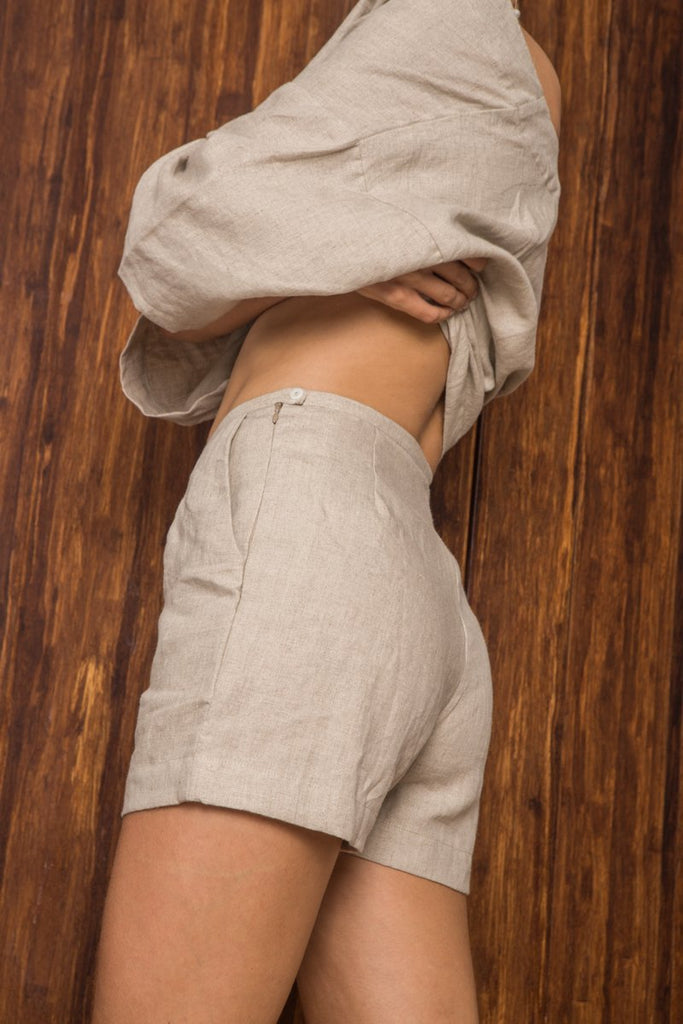 Arthur Apparel Shorts in Natural on Model