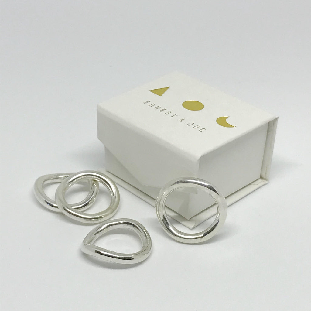 Sterling Silver Fluid Ring By Ernest and Joe