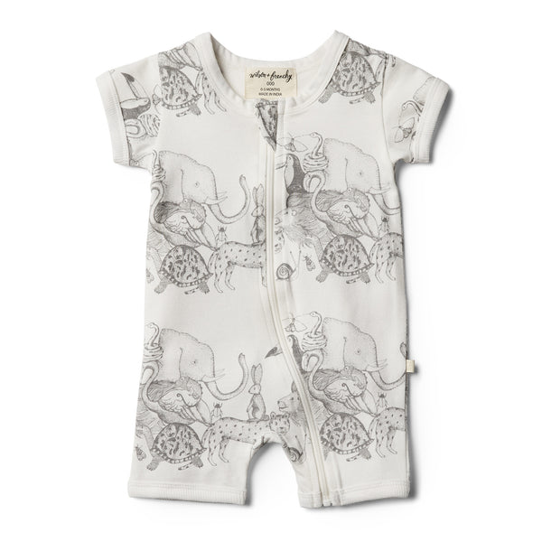 Wilson and Frenchy Boyleg Zipsuit - Organic Animalia