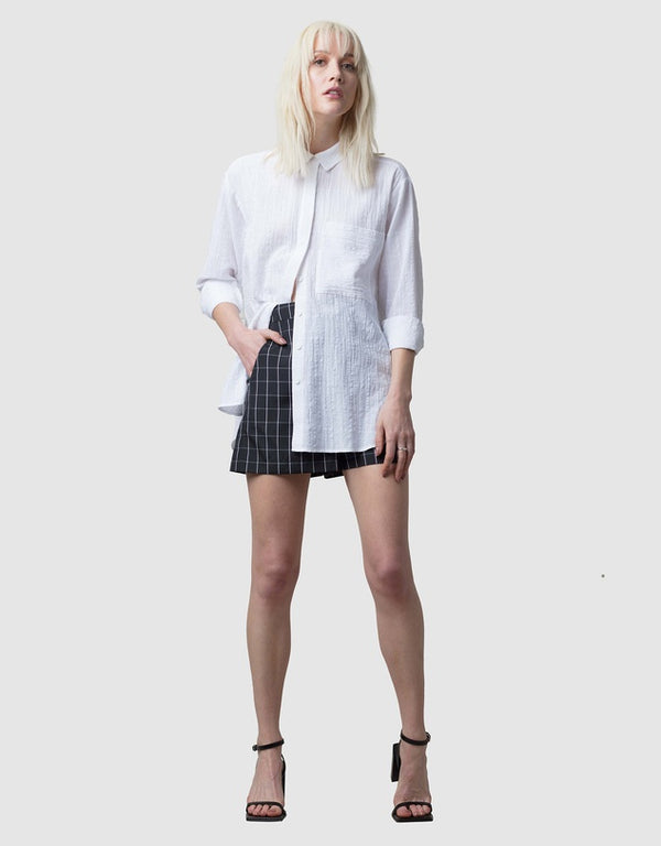 Fumi Shirt - Ivory Check - Only 1 Left (Size 12)