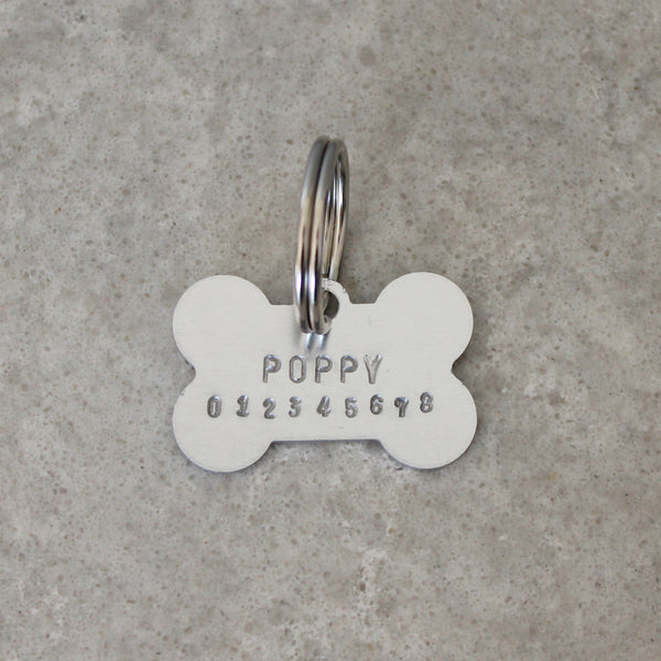 Hand Stamped Dog ID Tag