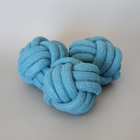 Rope Toy - Navy Ball