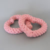 dapple and spots dog rope toy pink heart