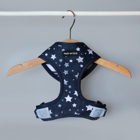 star print reversible dog harness