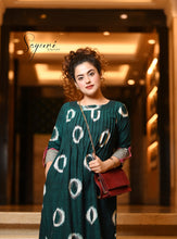 Ikat Green Cotton Dress
