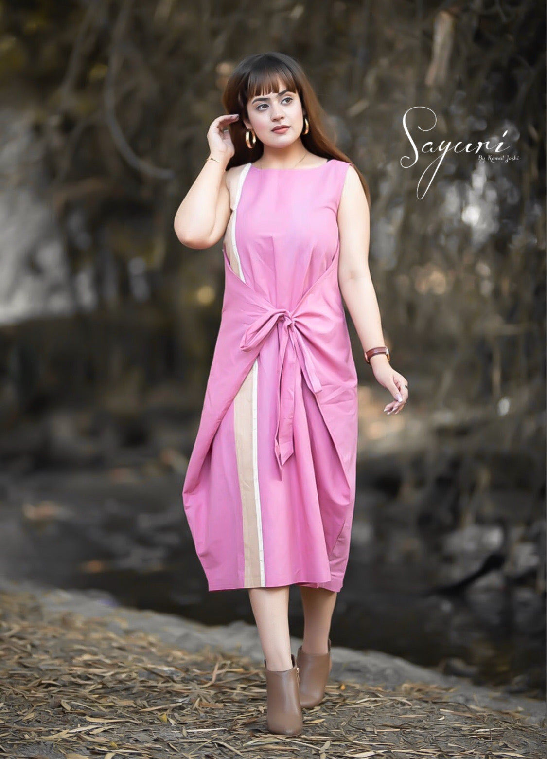 Knee Length Dress by Sayuri.