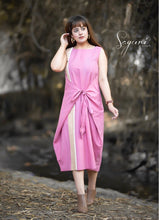 Pink Knee Length Dress