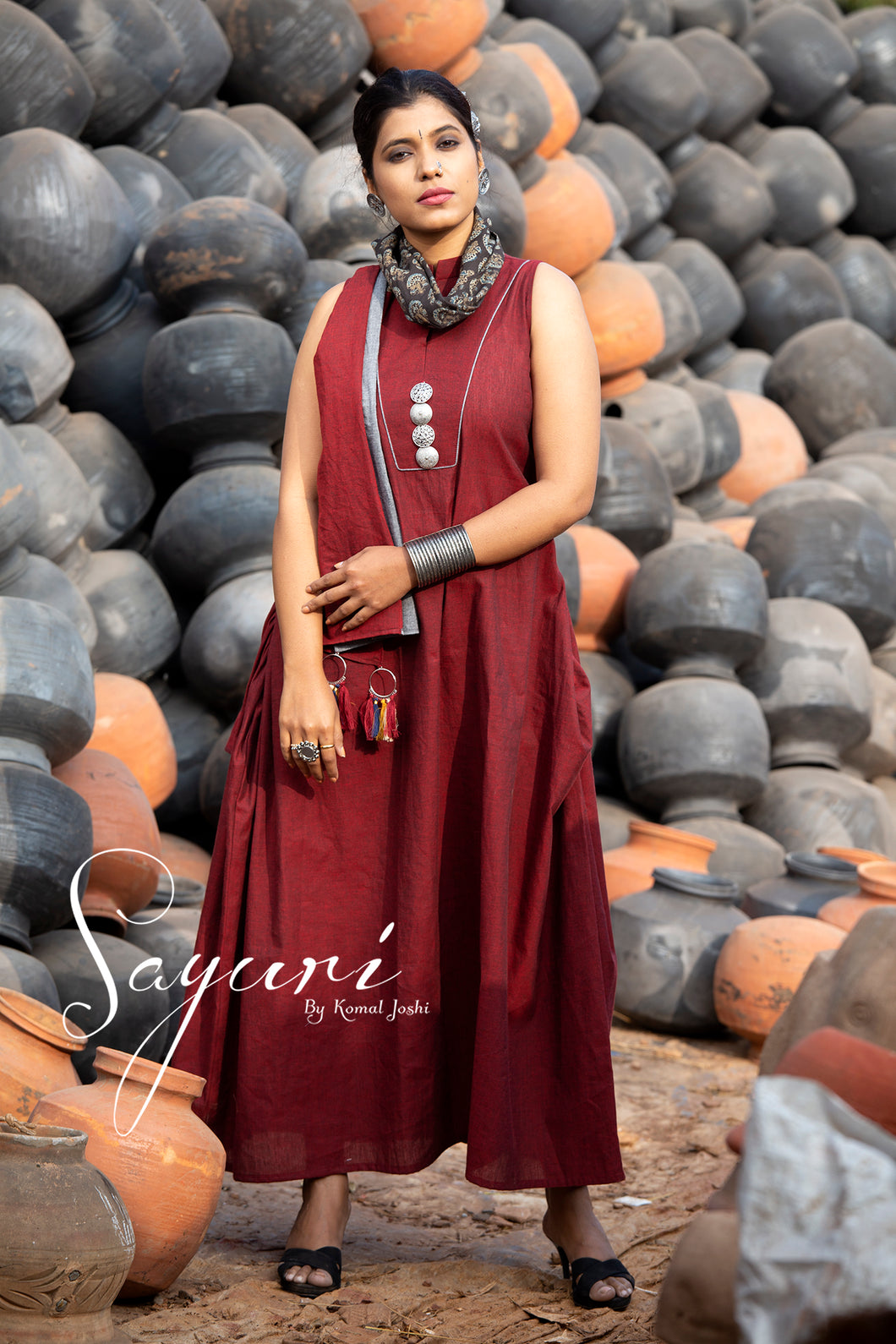 Cotton handloom long dress