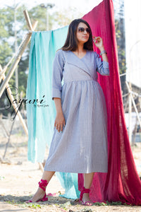 Striped Cotton Dress by Sayuri.
