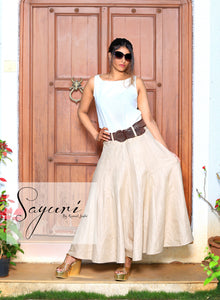 Cotton Linen Long skirt By Sayuri