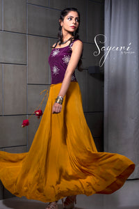 Long Crepe Dress by Sayuri.