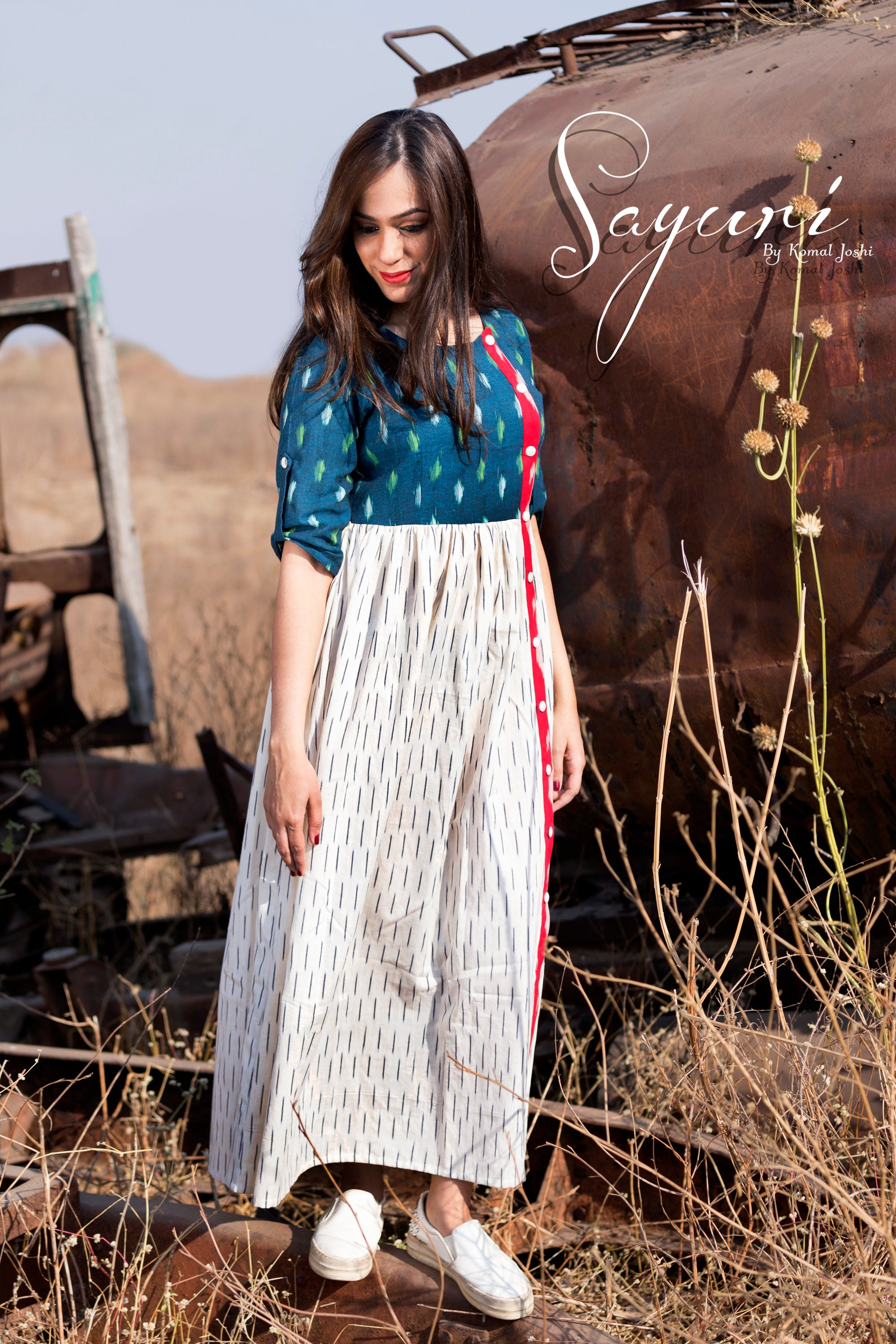 Ikat long dress by Sayuri.