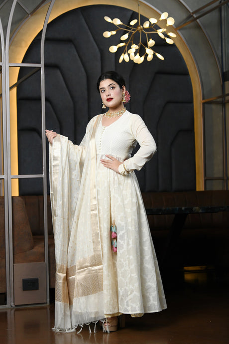 Cotton Jaquard Anarkali