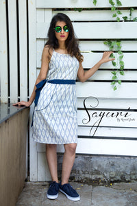 Ikat short dress by Sayuri.