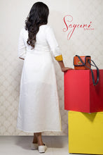 White long linen dress