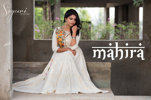 Off White Cotton Anarkali by Sayuri.