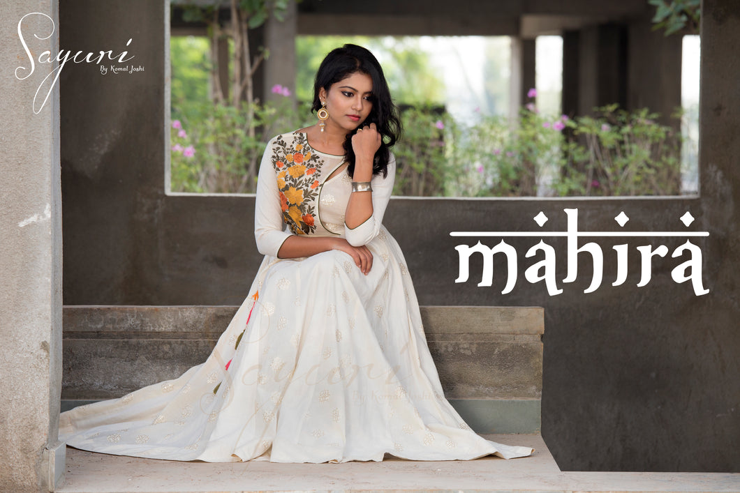 Off White Cotton Anarkali