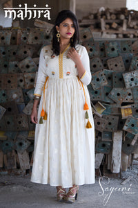 Chanderi/Cotton Dress by Sayuri.