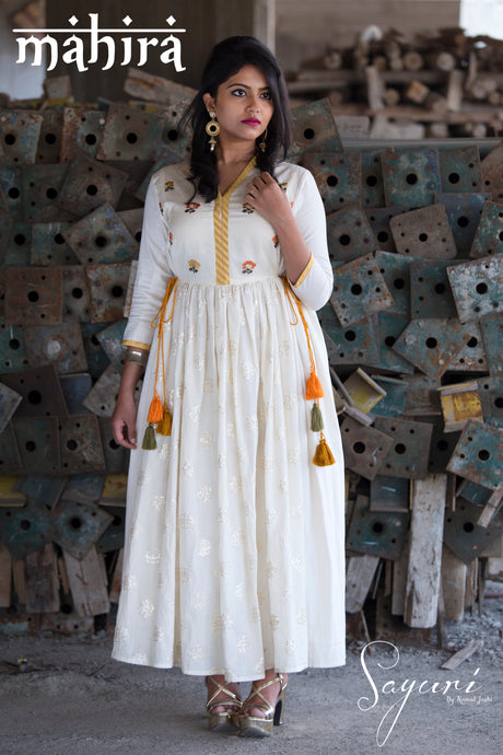 Chanderi/Cotton Dress