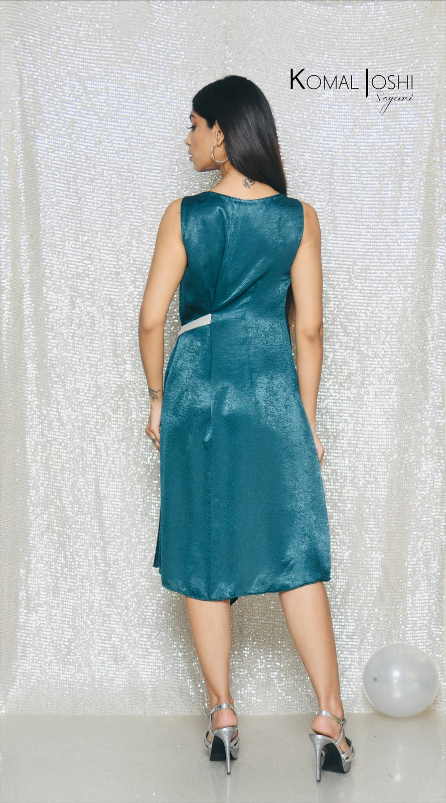 Green Asymmetric Dress by Sayuri.