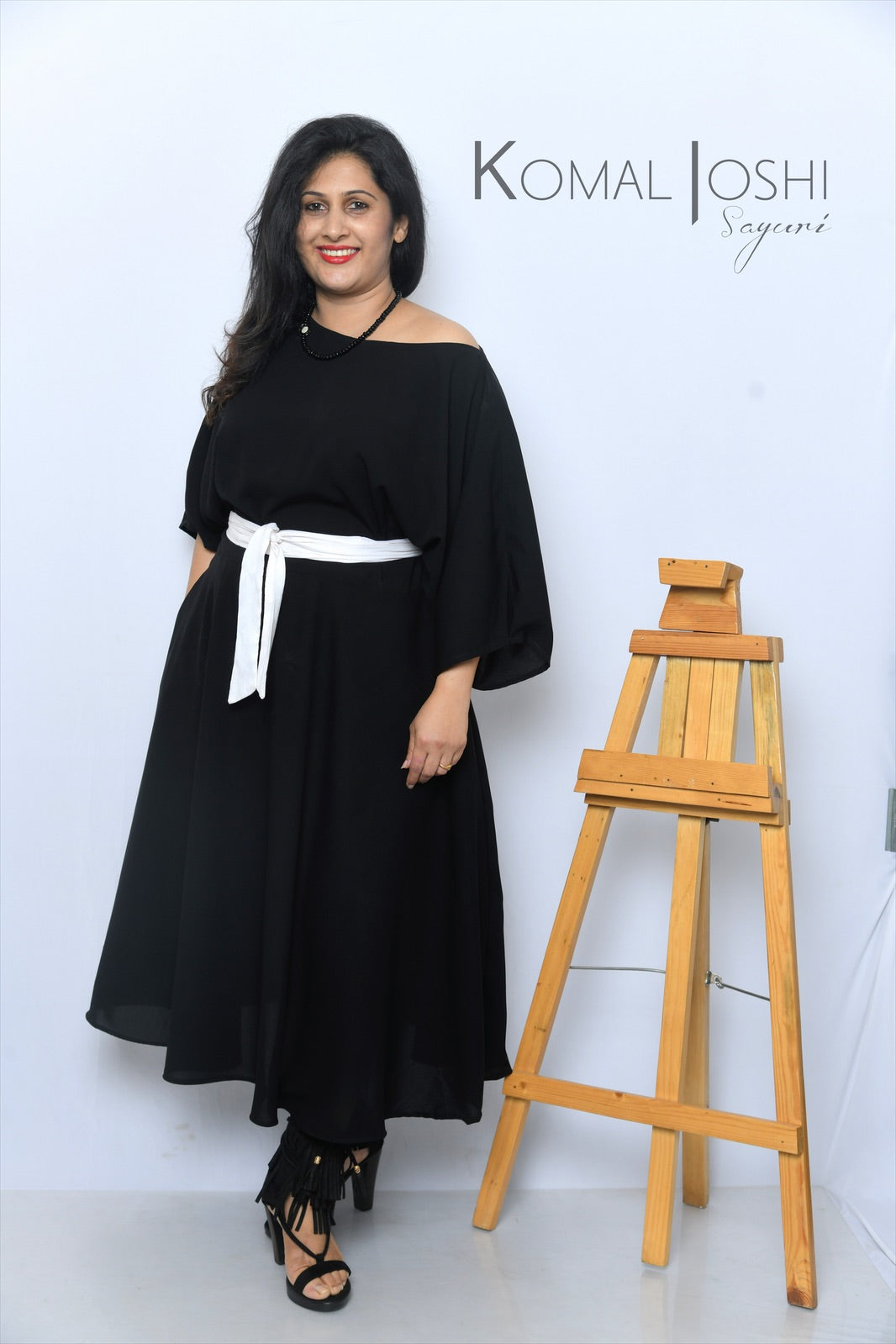 Black Maxi Dress By Sayuri.