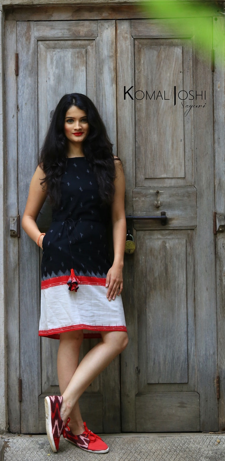 Black Ikat Dress By Sayuri.