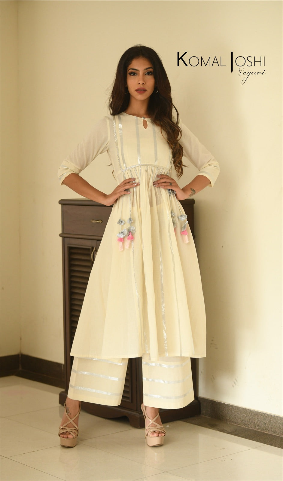 Mul Anarkali and Palazzo Set by Sayuri.